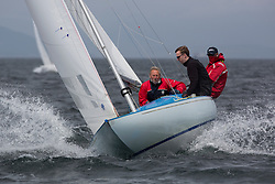 International Dragon Class Scottish Championships 2015.<br /> <br /> Day 1 racing in perfect conditions.<br /> <br /> GBR515, Basilisk<br /> <br /> <br /> Credit Marc Turner