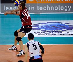 08-07-2010 VOLLEYBAL: WLV NEDERLAND - ZUID KOREA: EINDHOVEN<br /> Nederland verslaat Zuid Korea met 3-0 / Yo Han Kim<br /> ©2010-WWW.FOTOHOOGENDOORN.NL