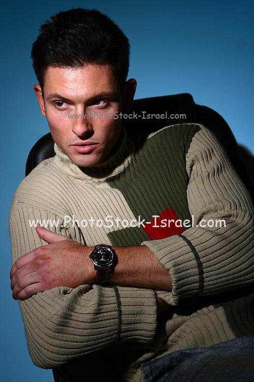 Male model portrait, studio