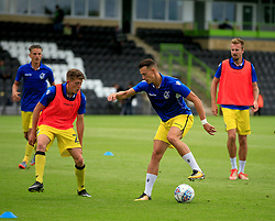 Bristol Rovers players warm up prior to kick off - Mandatory by-line: Paul Roberts/JMP - 22/07/2017 - FOOTBALL - New Lawn Stadium - Nailsworth, England - Forest Green Rovers v Bristol Rovers - Pre-season friendly