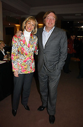 DAVID MELLOR and PENNY, VISCOUNTESS COBHAM at a private view of the forthcoming sale 'From the Collection of King George 1 of The Hellenes', held at Christie's. King Street, London on 22nd January 2007.<br />