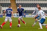 Scotland pair Kai Kennedy (Rangers FC) & Connor Smith (C)(Heart of Midlothian) during the U17 European Championships match between Scotland and Russia at Simple Digital Arena, Paisley, Scotland on 23 March 2019.