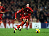 Fotball<br /> Champions League 2004/05<br /> Liverpool v Olympiakos<br /> 8. desember 2004<br /> Foto: Digitalsport<br /> NORWAY ONLY<br /> Florent Sinama-Pongolle
