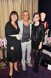 Left to right, LORRAINE KELLY, MARK HEYES and her dughter ROSIE SMITH at a party to celebrate the publication of Get The Look by Mark Heyes held at the Sanctum Soho Hotel, 20 Warwick Street, London W1 on 30th March 2010.