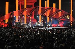 U2 perform in Trafalgar Square, London, ahead of the MTV Europe Music Awards.
