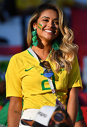 Brazil's wives and girlfriends at FIFA World Cup Brazil v Serbia match at Spartak Stadium, Moscow, Russia on June 27, 2018. Photo by Christian Liewig/ABACAPRESS.COM
