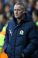 Paul Lambert, the Blackburn Rovers manager looks on from the touchline before k/o. Skybet football league championship match, Reading  v Blackburn Rovers at The Madejski Stadium  in Reading, Berkshire on Sunday 20th December 2015.<br /> pic by John Patrick Fletcher, Andrew Orchard sports photography.