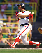CHICAGO - 1986:  Jerry Hairston of the Chicago White Sox bats during an MLB game at Comiskey Park in Chicago, Illinois during the 1986 season. (Photo by Ron Vesely)  Subject:   Jerry Hairston