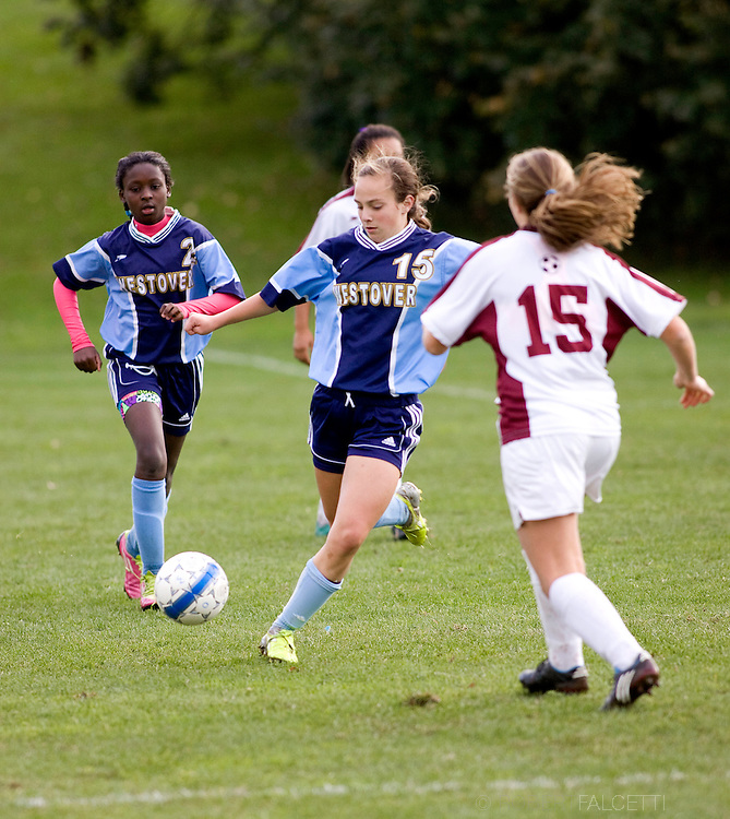The Westover School, Middlebury, CT. October 22, 2011. Westover soccer..(Photo by Robert Falcetti)..Admissions marketing & communications photography-New England Private Independent School-Alumni magazine photography  ... .