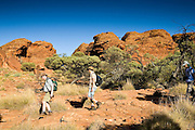 Tourists visit King's Canyon, Northern Territory, Australia