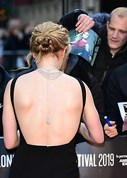 Anna Paquin attending the Closing Gala and International premiere of The Irishman, held as part of the BFI London Film Festival 2019, London.