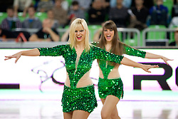 Cheerleaders Dragon Ladies during basketball match between KK Union Olimpija and Montepaschi Siena (ITA) of 7th Round in Group D of Regular season of Euroleague 2011/2012 on December 1, 2011, in Arena Stozice, Ljubljana, Slovenia. (Photo by Vid Ponikvar / Sportida)
