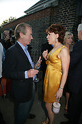 Martin Amis and Kathy Lette Launch of Tina Brown's book 'The Diana Chronicles' hosted by Reuters. Serpentine Gallery. 18 June 2007.  -DO NOT ARCHIVE-© Copyright Photograph by Dafydd Jones. 248 Clapham Rd. London SW9 0PZ. Tel 0207 820 0771. www.dafjones.com.