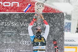 Zenhaeusern Ramon (SUI) during trophy ceremony at the Audi FIS Alpine Ski World Cup Men's  Slalom at 60th Vitranc Cup 2021 on March 14, 2021 in Podkoren, Kranjska Gora, Slovenia Photo by Grega Valancic / Sportida