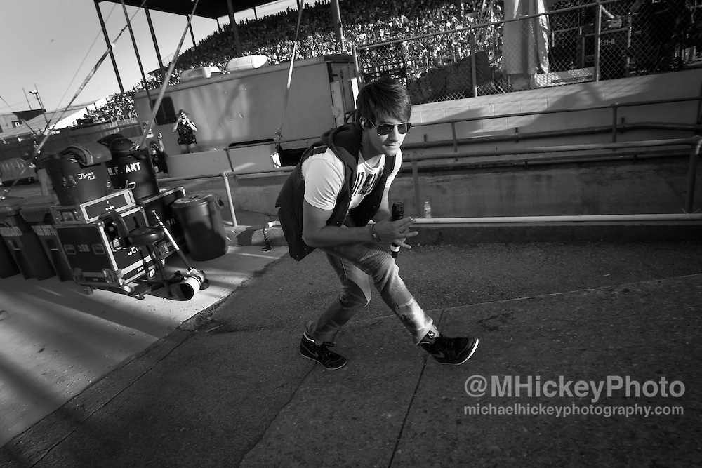 James Maslow of Big Time Rush takes the stage at the Indiana State Fair.