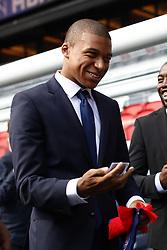 September 6, 2017 - Paris, France - Kylian Mbappe is presented as new player of Paris Saint Germain by President of PSG Nasser Al Khelaifi at Parc des Princes on September 6, 2017 in Paris, France. (Credit Image: © Mehdi Taamallah/NurPhoto via ZUMA Press)