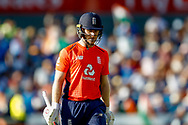 England T20 Captain & Batsman Eoin Morgan is out during the International T20 match between England and India at Old Trafford, Manchester, England on 3 July 2018. Picture by Simon Davies.
