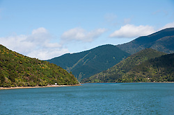 New Zealand, South Island, Green Mussel Cruise out of Havelock, Marlborough, on ship Odyssea to see mussel farming and scenery in Kenepuru Sound. Photo copyright Lee Foster. Photo #126156