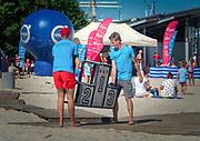 Cykl zajęć sportowychAktywne Lato 2017 odbywających się na gdyńskiej plaży Śródmieście przez cały sezon letni