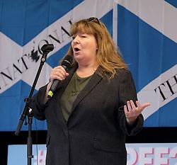Independence Rally, Glasgow, Saturday 2nd November 2019<br /> <br /> Pictured: Comedian Janey Godley<br /> <br /> Alex Todd | Edinburgh Elite media