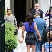 NLD/Amsterdam/20120721 - Huwelijk Berget Lewis en Sebastiaan van Rooijen, aankomst Sebastiaan