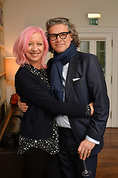 MARY GREENWELL and GEORGE WAUD at a lunch to promote the jewellery created by Luis Miguel Howard held at Morton's, Berkeley Square, London on 20th October 2016.