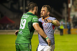 September 9, 2017 - Galway, Ireland - Quinn Roux (19) of Connacht and Schalk Ferreira of Kings during the Guinness PRO14 rugby match between Connacht Rugby and Southern Kings at the Sportsground in Galway, Ireland on September 9, 2017  (Credit Image: © Andrew Surma/NurPhoto via ZUMA Press)