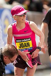 2013 Boston Marathon: Joan Benoit Samuelson at finish line
