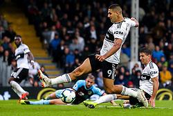 Aleksandar Mitrovic of Fulham fails to get on the end of a cross - Mandatory by-line: Robbie Stephenson/JMP - 26/08/2018 - FOOTBALL - Craven Cottage - Fulham, England - Fulham v Burnley - Premier League