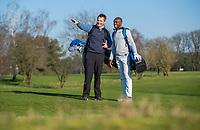 ARNHEM - Atleet Churandy Martina , sprinter op de golfbaan met les van Thomas IJland,COPYRIGHT KOEN SUYK