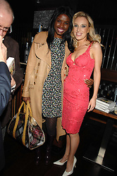 Left to right, JUNE SARPONG and IMOGEN LLOYD WEBBER at a party to celebrate her 30th birthday and the launch of her Single Girl's Guide held at Vilstead, 9 Swallow Street, London on 27th March 2007.<br />