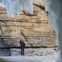 The Maligne Canyone Icelwalk in Jasper, Alberta