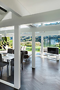 Architecture, open space of a modern house, <br /> living room view
