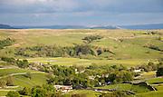 Malham village limestone scenery, Yorkshire Dales national park, England, UK