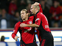 Fotball<br /> Bundesliga Tyskland<br /> Foto: Witters/Digitalsport<br /> NORWAY ONLY<br /> <br /> 26.11.2006<br /> <br /> Jubel 1:0 Andrej Voronin, Sergej Barbarez Leverkusen<br /> Bundesliga Bayer 04 Leverkusen - FC Energie Cottbus