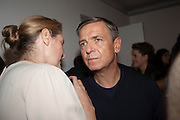PHILOMENE MAGERS; ANDREAS GURSKY, Opening of Morris Lewis: Cyprien Gaillard. From Wings to Fins, Sprüth Magers London Grafton St. London. Afterwards dinner at Simpson's-in-the-Strand hosted by Monika Spruth and Philomene Magers.