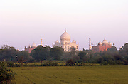 The Taj Mahal andsurrounding grounds at Agra, Uttar Pradesh, India