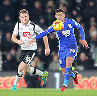 Derby County's Alex Pearce battles with  Birmingham City's Che Adams<br /> <br /> Photographer Mick Walker/CameraSport<br /> <br /> The EFL Sky Bet Championship - Derby County v Birmingham City - Tuesday 27th December 2016 - iPro Stadium - Derby<br /> <br /> World Copyright © 2016 CameraSport. All rights reserved. 43 Linden Ave. Countesthorpe. Leicester. England. LE8 5PG - Tel: +44 (0) 116 277 4147 - admin@camerasport.com - www.camerasport.com