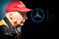 LAUDA niki non-executive chairman of mercedes f1 team ambiance portrait during 2015 Formula 1 championship at Melbourne, Australia Grand Prix, from March 13th to 15th. Photo DPPI / Eric Vargiolu.
