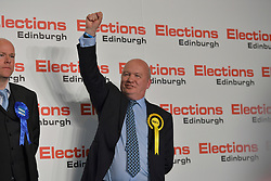 SCOTTISH PARLIAMENTARY ELECTION 2016 –Gordon MacDonald, Scottish National Party (SNP)winning the Peatlands area vote at the Scottish Parliament Elections, at the Royal Highland Centre, Edinburgh for the counting of votes and declaration of results.<br />(c) Brian Anderson   Edinburgh Elite media