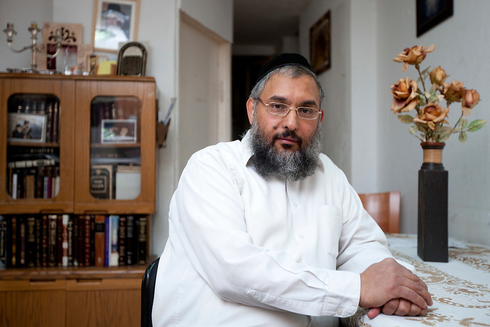 A portrait of Rabbi Aharon Ramati, head of Be'er Miriam seminary for ultra-Orthodox Jewish women in Jerusalem, Israel, on February 15, 2011. Israeli police opened an investigation into Be'er Miriam after parents complained that the institution is a cult.