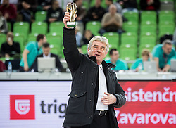 Marko Elsner, former football player and coach at the 2017 Slovenia Hall of Fame induction ceremony during basketball match between KK Petrol Olimpija Ljubljana and Banvit B.K. in Round #8 of Basketball Champions League 2017/18, on December 19, 2017 in Arena Stozice, Ljubljana, Slovenia. Photo by Vid Ponikvar / Sportida