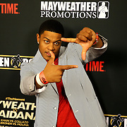 Pooch Hall is seen on the red carpet prior to the Mayweather versus Maidana boxing match at the MGM Grand hotel on Saturday, May 3, 2014 in Las Vegas, Nevada.  (AP Photo/Alex Menendez)