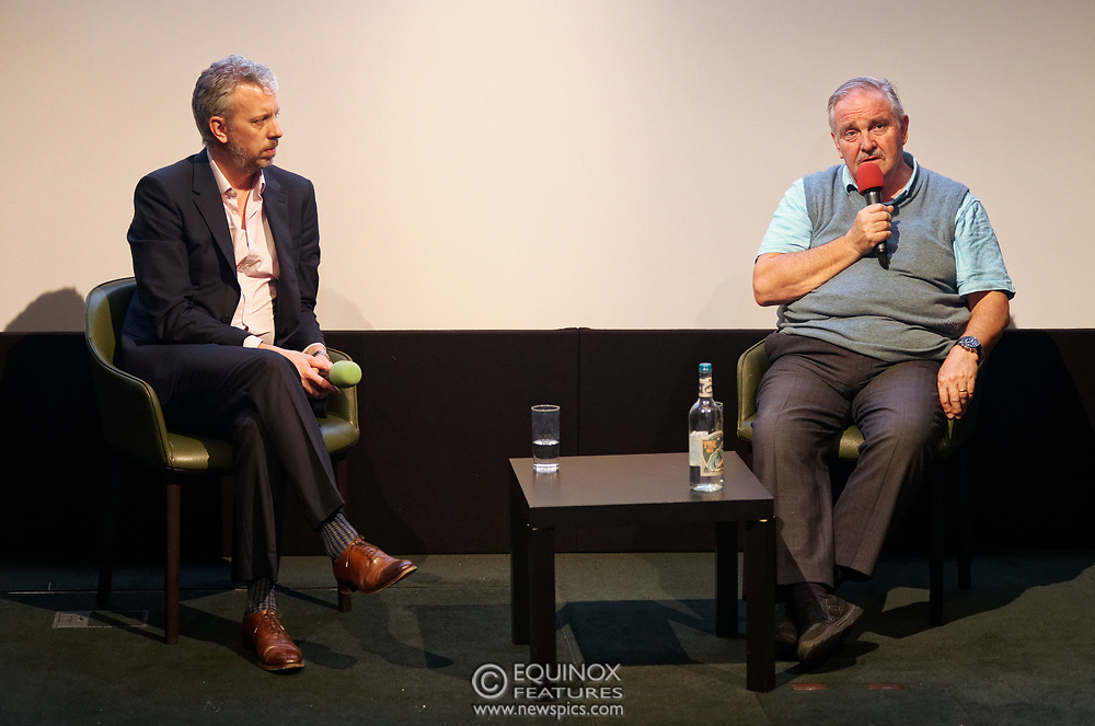 London, United Kingdom - 26 February 2019<br /> DrugScience CEO David Badcock and founder chair, Professor David Nutt, at the screening of film, Magic Medicine at the Regent Street Cinema, Marylebone, London, England, UK. The film follows volunteers receiving experimental treatment with psilocybin, the active ingredient in magic mushrooms, to see if it can help treat long-term depression. DrugScience is a charity researching the medical uses of psychoactive drugs. The film was followed by a Q&A with Professor David Nutt founding chair of DrugScience and Head of the Neuropsychopharmacology Unit in the Centre for Academic Psychiatry in the Division of Brain Sciences, Dept of Medicine, Hammersmith Hospital, Imperial College London. Professor Nutt was formerly chair of the Advisory Council on the Misuse of Drugs.<br /> (photo by: EQUINOXFEATURES.COM)<br /> Picture Data:<br /> Photographer: Equinox Features<br /> Copyright: ©2019 Equinox Licensing Ltd. +448700 780000<br /> Contact: Equinox Features<br /> Date Taken: 20190226<br /> Time Taken: 21181758<br /> www.newspics.com