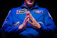 British Astronaut Tim Peake on stage after receiving an Honorary Doctorate of Science Degree from the University of Portsmouth at the Guildhall in the city.<br /> Earlier, Tim spent the day at the UK Space Agency Schools Conference hosted by the University.<br /> The conference celebrated the work of over a million UK school students inspired by Peake's Principia mission, which saw the flight dynamics and evaluation graduate spend more than six months on board the International Space Station.<br /> Youngsters had the chance to present their work through talks and exhibitions to experts from the UK Space Agency, European Space Agency (ESA), partner organisations and the space sector. Most also had the chance to meet Tim.<br /> Picture date Wednesday 2nd November, 2016.<br /> Picture by Christopher Ison for the University of Portsmouth.<br /> Contact +447544 044177 chris@christopherison.com