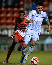 Coventry City's Jordan Willis runs with the ball - Photo mandatory by-line: Mitchell Gunn/JMP - Tel: Mobile: 07966 386802 08/10/2013 - SPORT - FOOTBALL - Brisbane Road - Leyton - Leyton Orient V Coventry City - Johnstone Paint Trophy