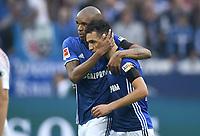 v.l. Naldo, Torschuetze Nabil Bentaleb (Schalke)<br /> Gelsenkirchen, 19.08.2017, Fussball Bundesliga, FC Schalke 04 - RB Leipzig 2:0<br /> <br /> Norway only