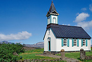 Chapel at Thingvellir National Park in Iceland