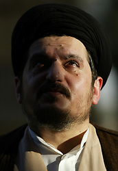Sayyid Hussein Khomeini, who welcomes U.S. intervention in Iran and is arguing for a separation of mosque and state, is seen in Baghdad, Iraq, Aug. 8, 2003. Seyed is the grandson of Ayatollah Khomeini, the architect of the anti-American Islamic revolution in Iran.