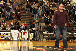 22 February 2013: It was Senior night and Cody White Night.  Cody, a graduate of Normal West and Local football star at West and ISU now plays for the Houston Texans of the National Football League.  He was honored as the first Wildcat to be an NFL player. Bloomington High School at Normal West